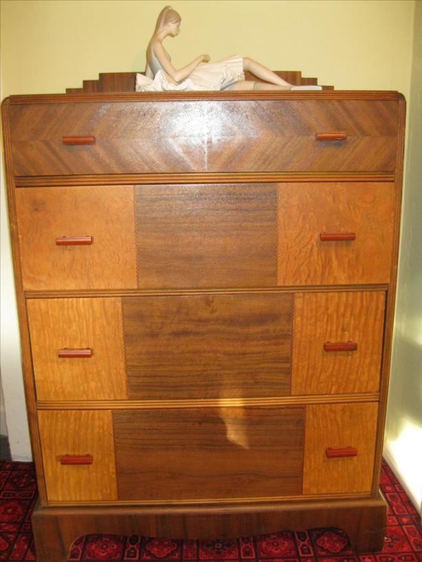 Chest of Drawers Art Deco Style