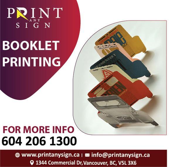 Booklets Design & Print Services