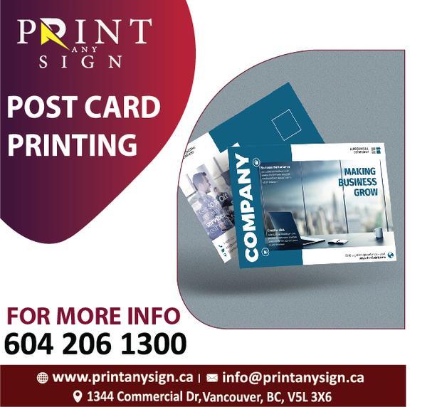 Postcard Design & Printing Services