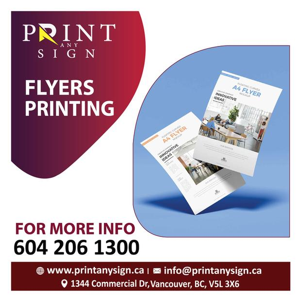 Flyers Design & Print Services