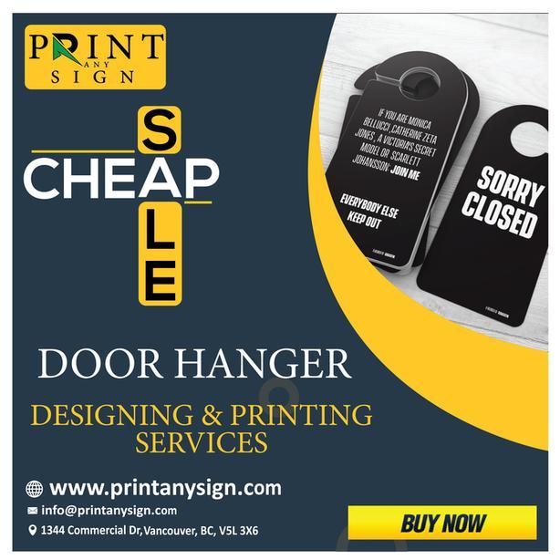 Doorhanger Printing Cheap & Big Sale