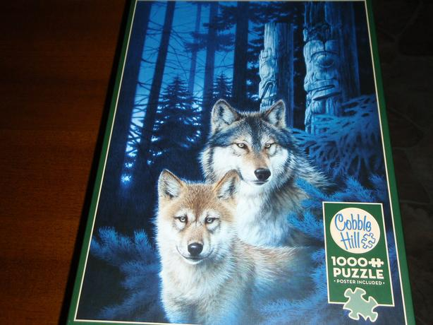 Jigsaw Puzzle Cobble Hill 1000 Pc  Wolf Canyon