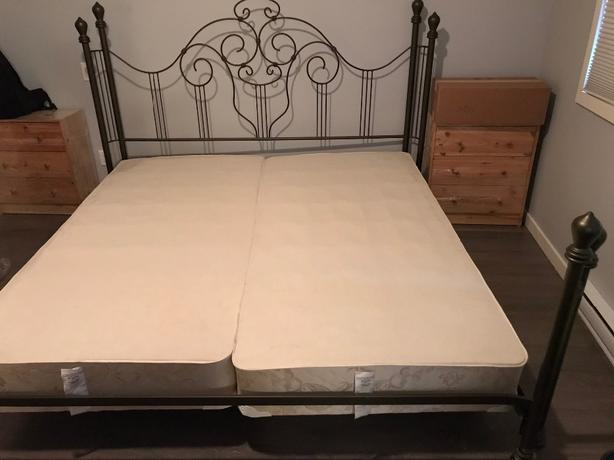 Bed Frame (King size) and box springs (2 twin size)