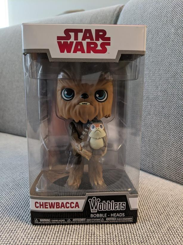 Funko Wobblers: Chewbacca and Porg, Star Wars