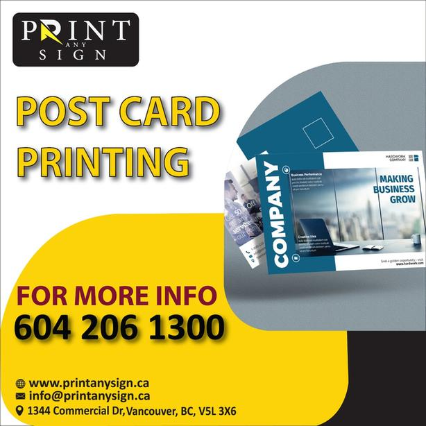 postcards design and printing services