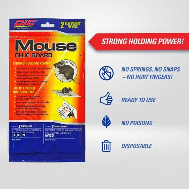 PIC Mouse Pest Spider Insect Glue Trap Board (2pcs)