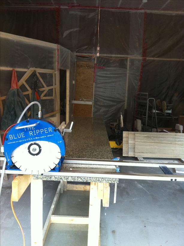 Stone Rail Saw / Hydraulic Tilt Table
