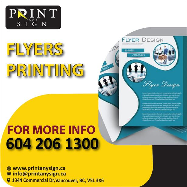 Flyers Design and Print Services
