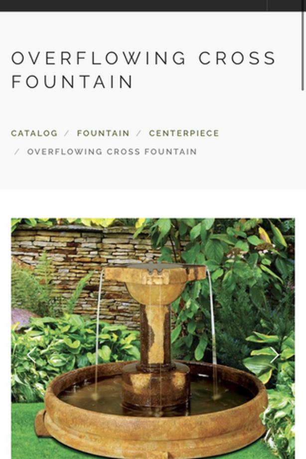 """Moving — must sell — Henri overflowing """"relic lava"""" cross fountain"""