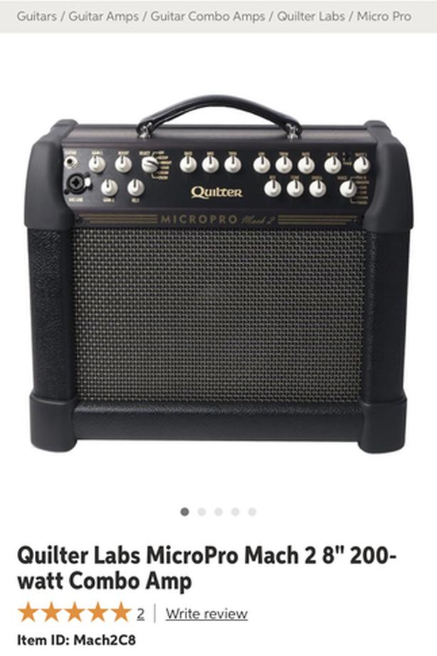 Wanted: Quilter MicroPro Mach II Amp