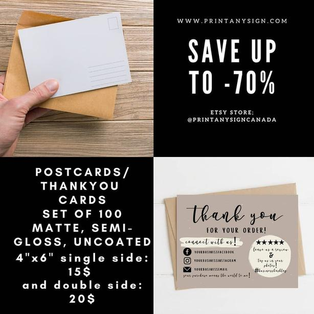 Postcard printing services