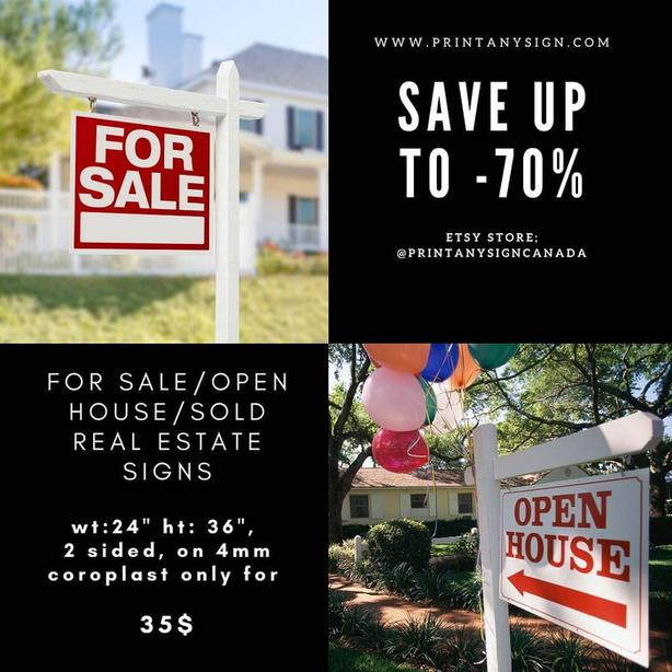 Real Estate Sign Printing Services