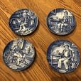 Enoch Wedgwood Tunstall Ltd set of four