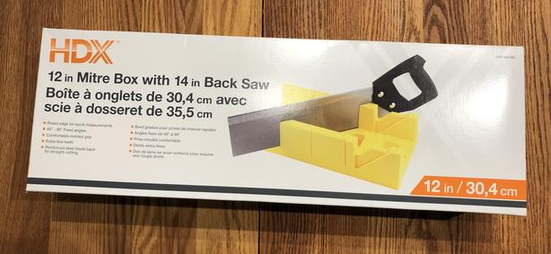 12 in Mitre Box with 14 in Backsaw