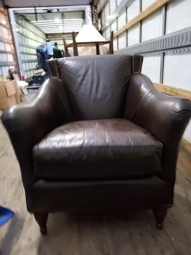 Bradington Young Aniline Leather Armchair