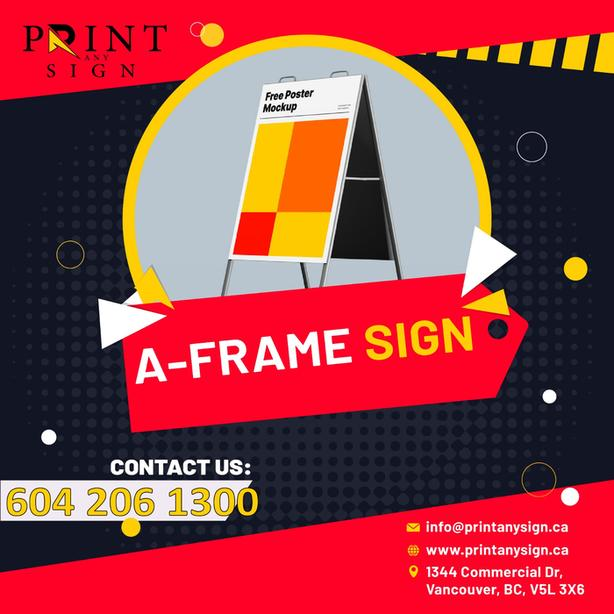 A-Frame Sandwich Boards Printing Services