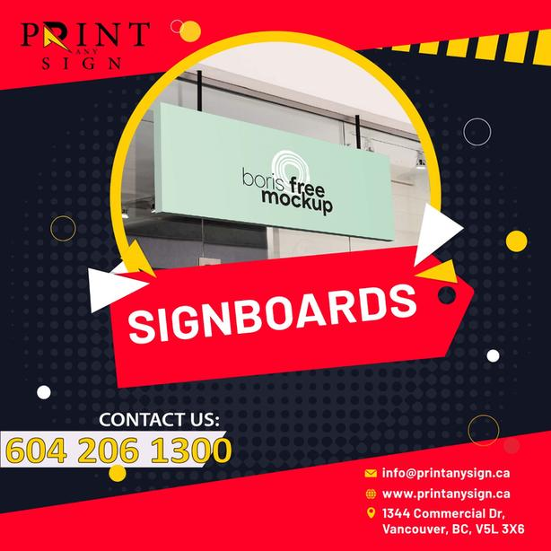 Signboards Printing Services