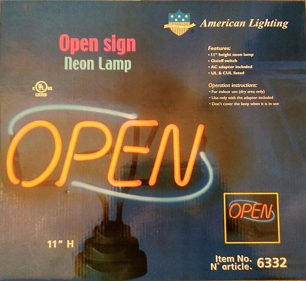 Open Sign Neon Lamp