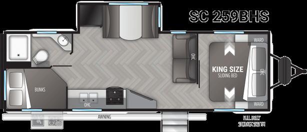2021 Cruiser RV Shadow Cruiser 259BHS