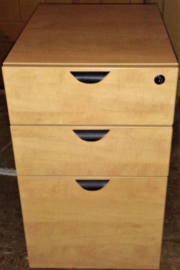 Three Drawer Mobile Vertical Filing Cabinet