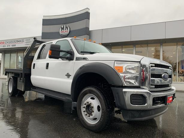 Used 2016 Ford F-550 Chassis XLT CREW 4WD DIESEL FLAT DECK GOOSE NECK Truck Crew