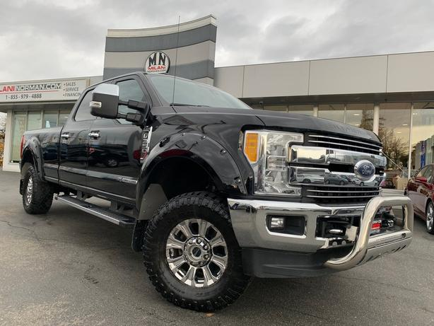 Used 2017 Ford F-350 Lariat FX4 4WD LB LEATHER SUNROOF NAVI LEVELED Truck Crew C