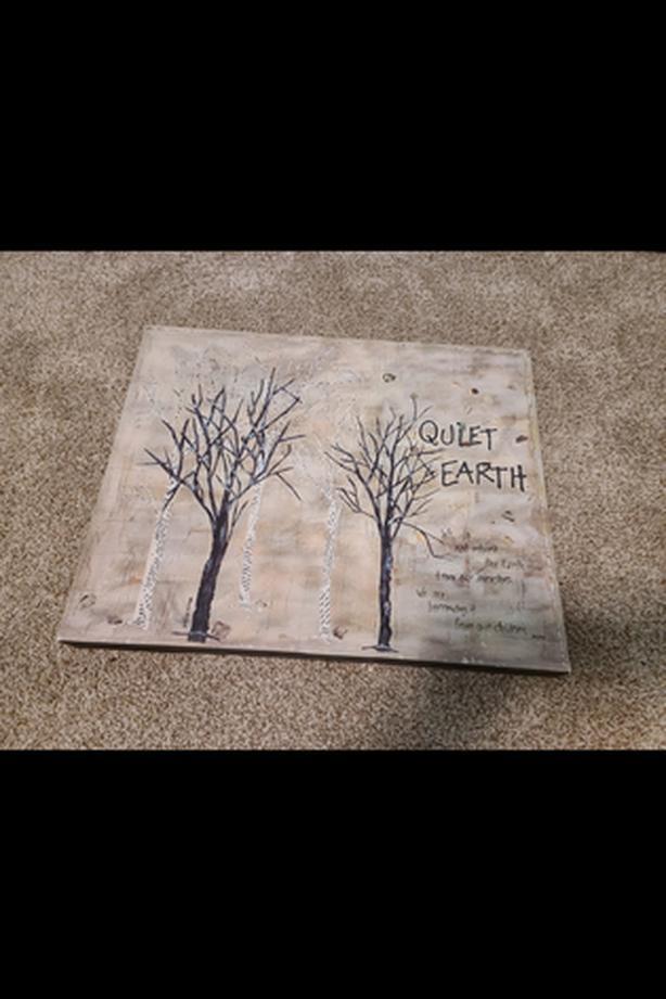 "Quiet Earth Art Work. Canvas. 18.5""w x 15""h."