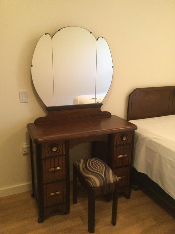 Vintage Vanity, Chest of Drawers and Head Board