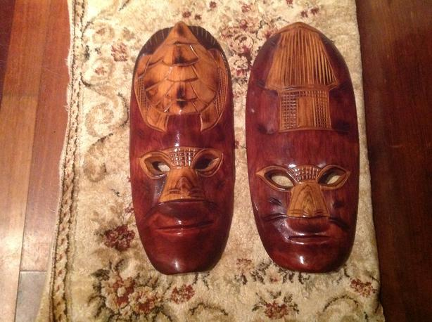 Two Wooden Mask Carvings