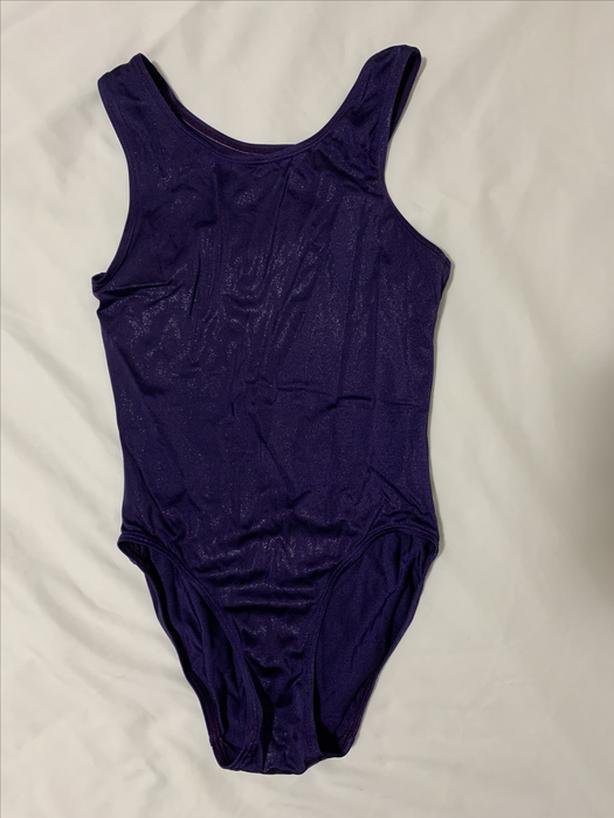 Purple gymnastics leotard/bodysuit, regular back