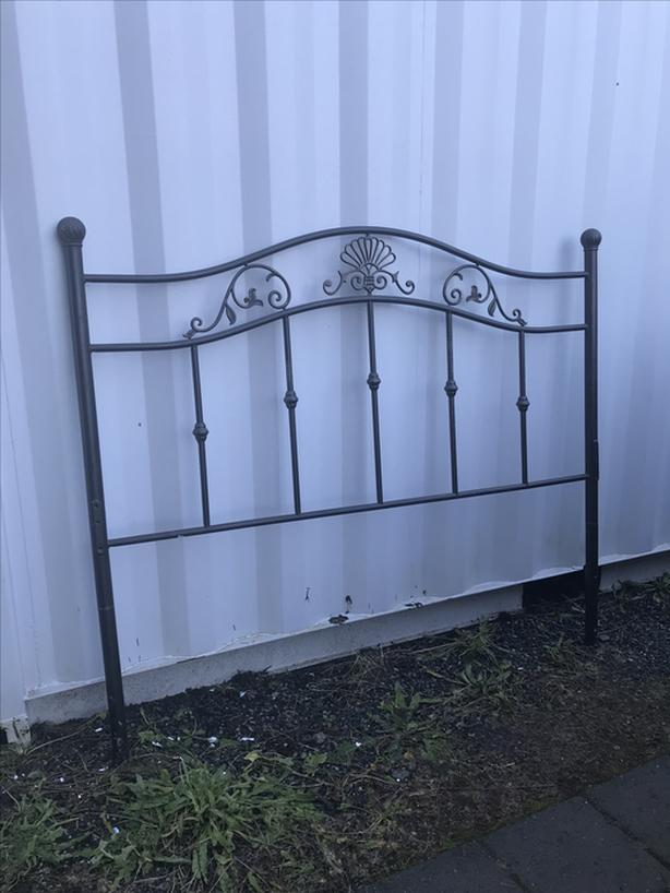 Queen size wrought iron bed headboard