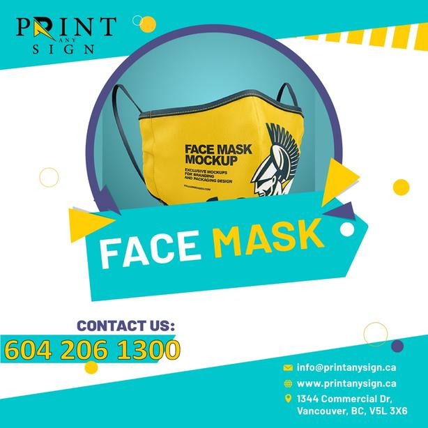 Facemask Printing services