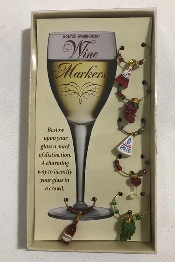 New Set of 6 Wine Glass Markers $4  Original price $7.98