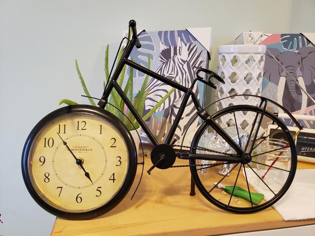 Bicycle clock.