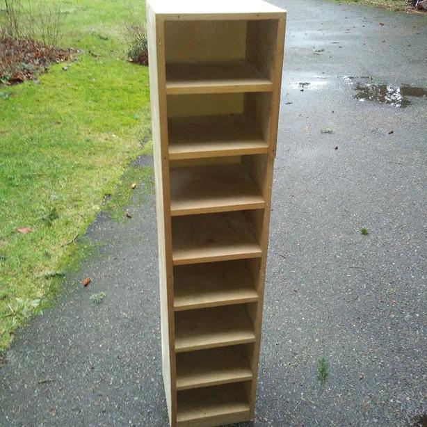 Tall Custom Made Storage Shelf