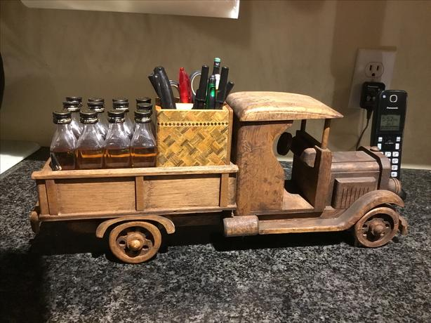 Rare piece hand carved delivery truck