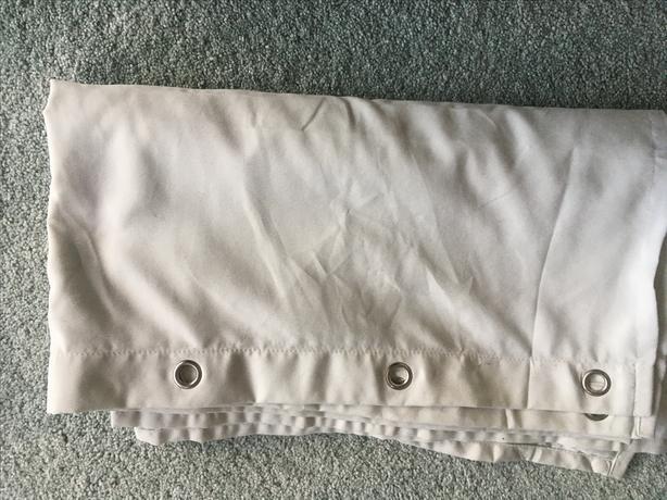 New Light Grey Fabric Shower Curtain