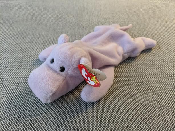 Beanie Baby Happy the Purple Hippo (1993)
