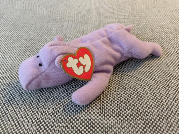Teenie Beanie Baby Happy the Purple Hippo (1993)