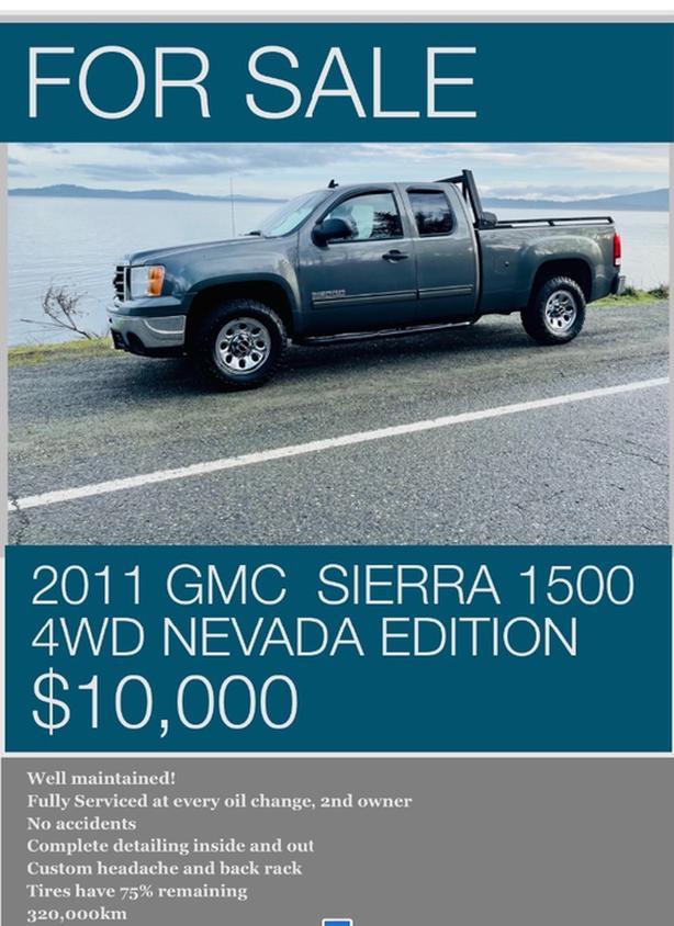 2011 GMC  Sierra 1500 4wd Nevada edition