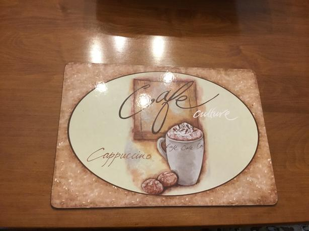 10 placemats Cappuccino. design