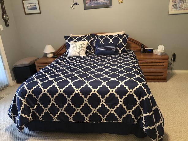 Queen sized comforter set  $75.00