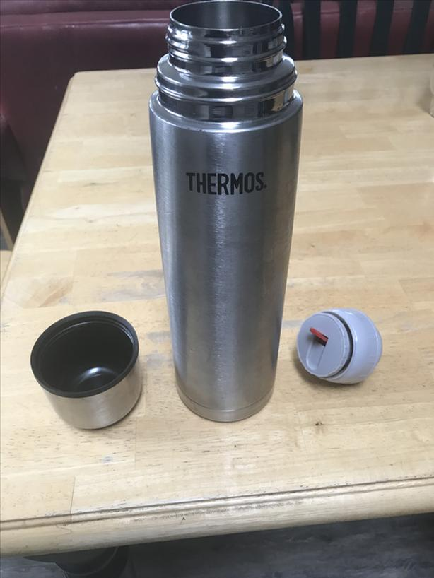 5 cup tall stainless steel Thermos