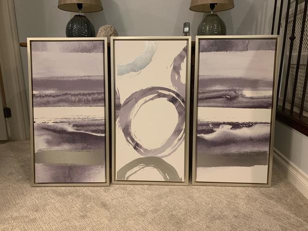 Set of three paintings