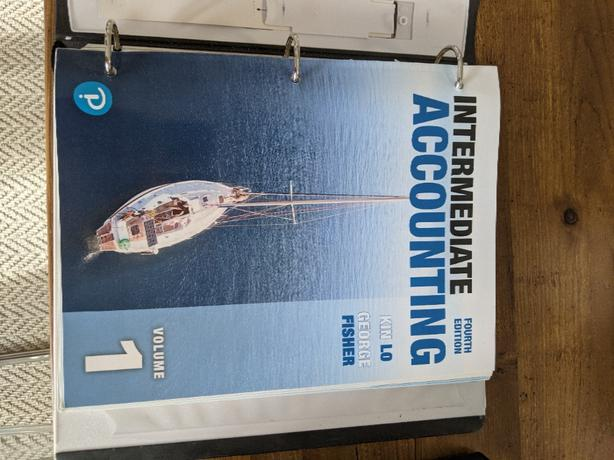 Intermediate Accounting Vo 1 Fourth Edition by King Lo, George Fisher