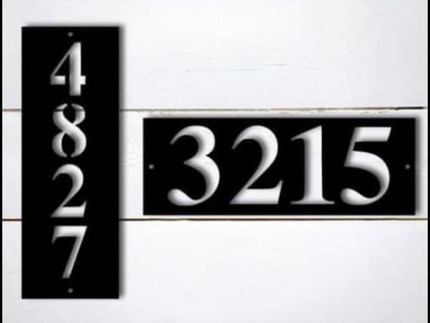 Custom metal address signs