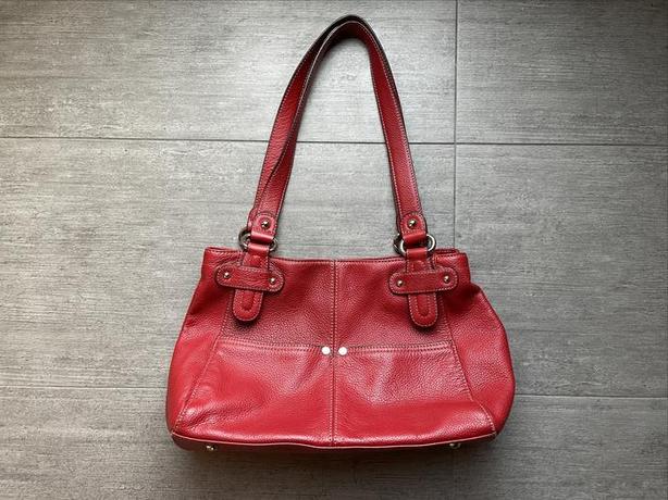 Tignanello New Red Leather Purse 30cm W x 22cm H