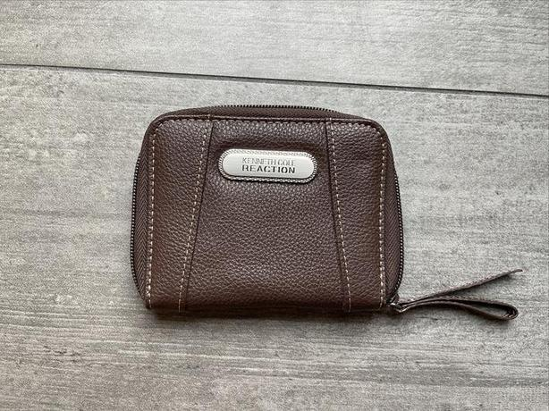 Kenneth Cole Reaction New Brown Wallet 12cm W x 9cm H