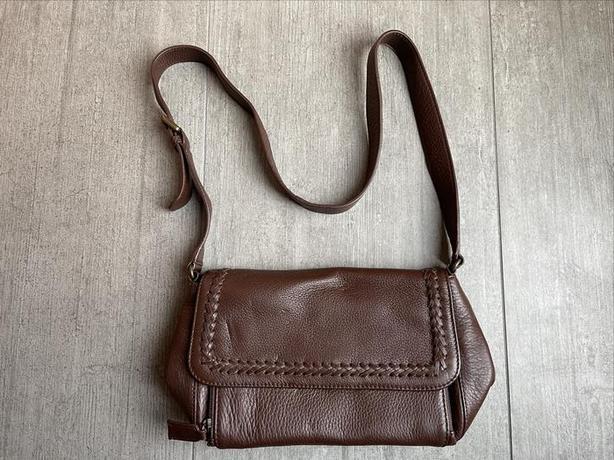Eddie Bauer New Brown Leather Purse 22cm W x 16cm H