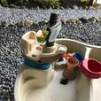 Water table with umbrella